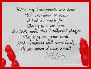 Santa Handprint Poem Pictures