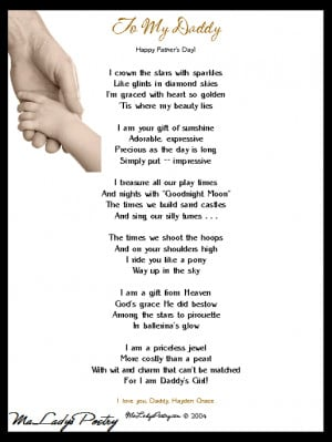 Fathers Day Poems From Daughter | … Poetry • Father's Day Poem ...