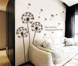 BONAMART ® Dandelion nursery kids room removable quote vinyl wall ...