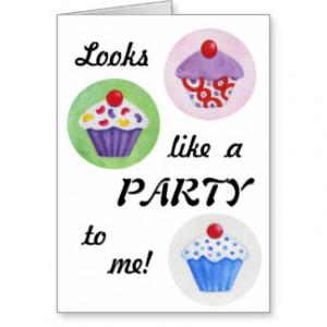 Funny Cupcake birthday card