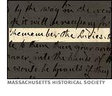 Abigail Adams letter to John Adams