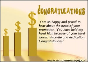 Job Promotion Congratulations Quotes