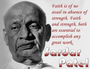 Sardar Vallabhbhai Patel Jayanti 2014 SMS Quotes in Hindi HD Wallpaper