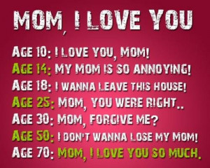 Love You Mom From Daughter Quotes I love mom quotes