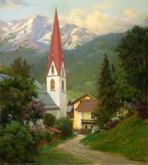 landscape artists oil painting