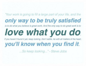Fall in love with your work quotes