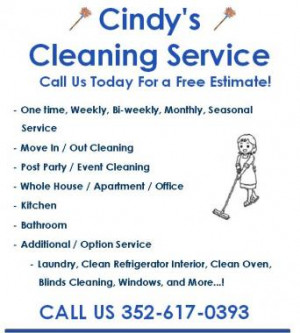 Cindy's Cleaning Service