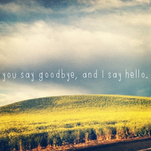 Goodbye, quotes, sayings, i say hello