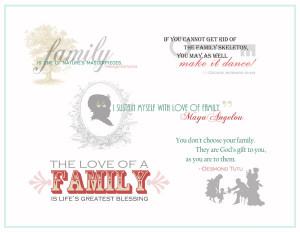 Quotations and Word Art for Scrapbooking Family