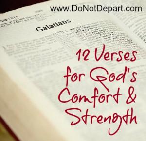 12 Verses for God's Comfort & Strength