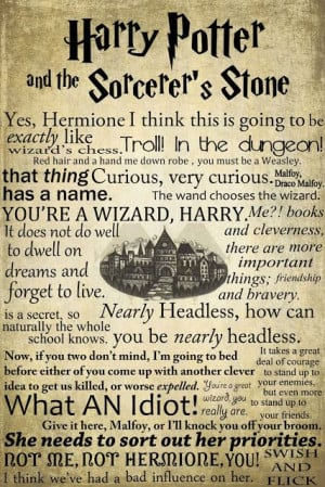 Harry Potter quotes from the first book! Excuse my while I go ahead ...
