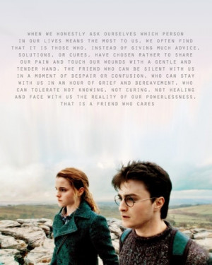 Their friendship, fictional as it may be, was always something I ...