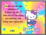 hello kitty quote Images hello kitty quote Pictures & Graphics - Page