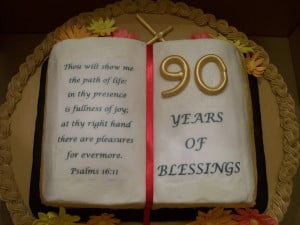 90th birthday this was a cake for our pastor emeritus 90th birthday ...