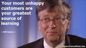 ... your greatest source of learning - Bill Gates Quotes - StatusMind.com