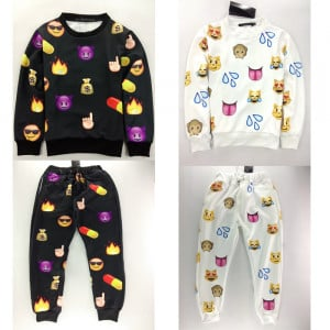 emoji girls joggers outfits
