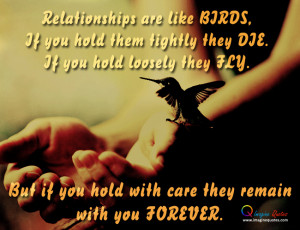 ... with bird, Life and love quote with girl and bird for relationships