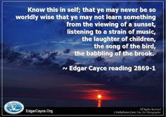 Inspirational Edgar Cayce quotes are available on prints by fine art ...