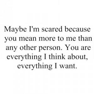 scared, i'm so scared of losing you | via Tumblr
