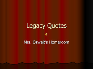 Quotes About Legacy Quote