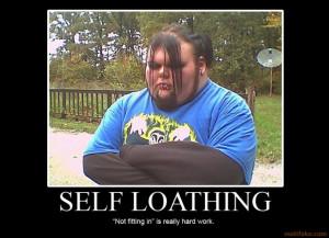 Self loathing funny fat emo kid