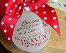 ... Custom Christmas Ornament, Remember a Lost Loved One at Christmas