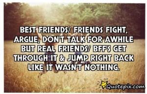 Best Friends/ Friends Fight, Argue, Don