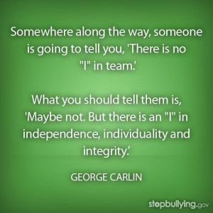 George carlin quotes sayings team person individuality