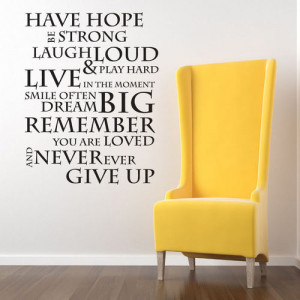Have Hope Wall Quotes - Small : veggdekor.net, - veggdekor, tapet ...