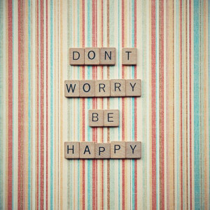 Scrabble quote art dont worry be happy by RetroLovePhotography