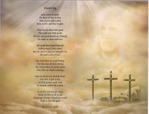 three crosses easter joy poem print with matching mat frame printing