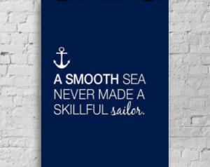 Nautical themed sailor quote print - beach house home decor ...