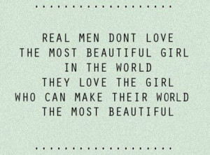 How a real man loves…