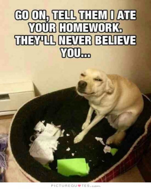 ... Dog Quotes School Quotes Believe Quotes Funny Dog Quotes Homework