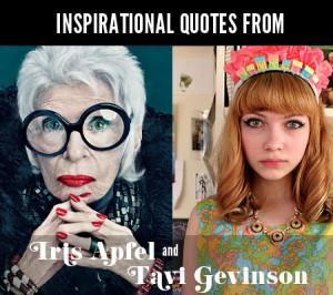 Our 5 Favorite Quotes From Iris Apfel And Tavi Gevinson