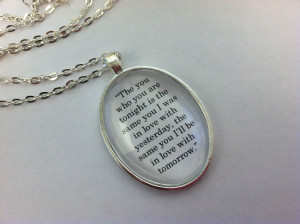 If I Stay Inspired 'The who you are' Quote Charm Pendant Necklace Mia ...
