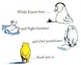Detail from the back cover of the 1998 UK edition of the Tao of Pooh.