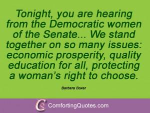19 Sayings From Barbara Boxer