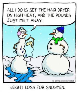 Cartoon: weight loss for snowmen (medium) by sardonic salad tagged ...