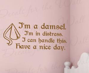 Hercules Im Damsel I Can Handle Disney Girl Room Kid Nursery Wall ...