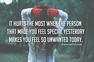 Quotes About Feeling Unwanted
