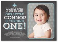 Baby Boy's 1st Birthday Invitations