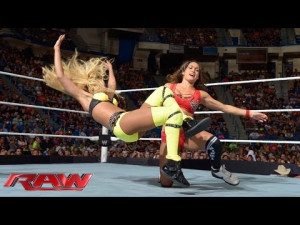 WWE Nikki Bella vs. The Funkadactyls 2-on-1 Handica..