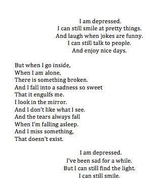 quotes depression sad fake smile bad day poem writing depressed crying