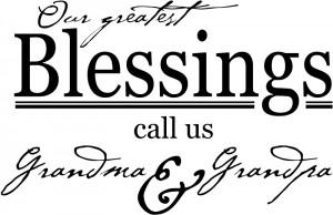 ... Blessings Call Us Grandma & Grandpa Quote Wall Sticker Transfers