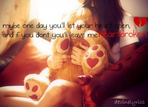heartbroken, love, quote, red, teddy bear