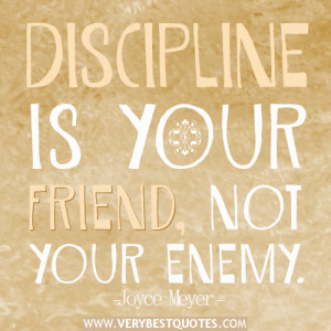 discipline quotes, Joyce Meyer Quotes