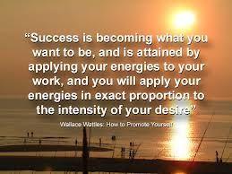Wallace D. Wattles - Success