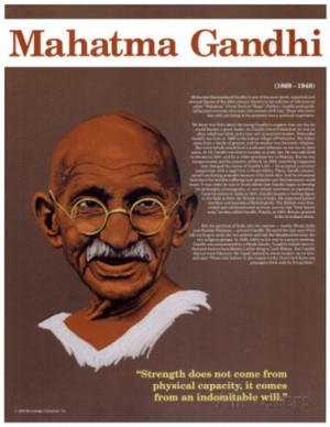 Heroes of the 20th Century - Mahatma Gandhi Art Print
