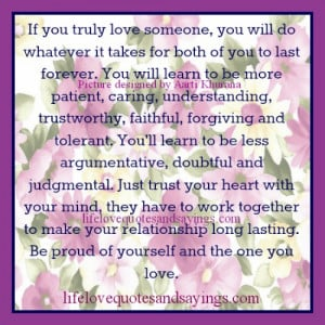 If You Truly Love Someone..